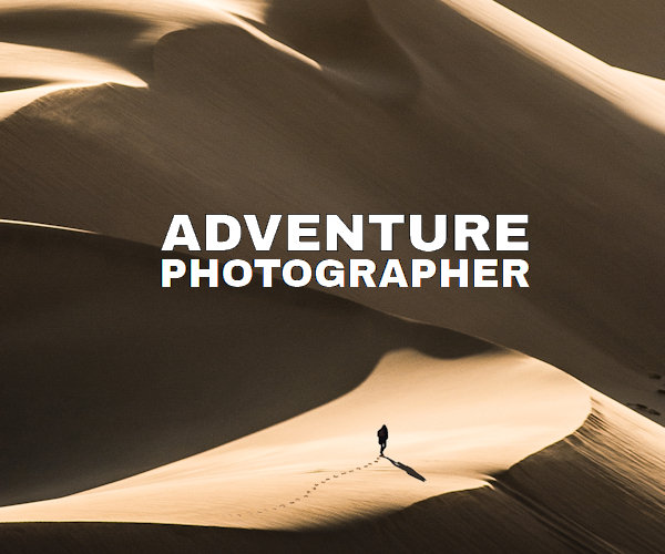 Web site layouts templates for action and adventure portfolio by a photographer