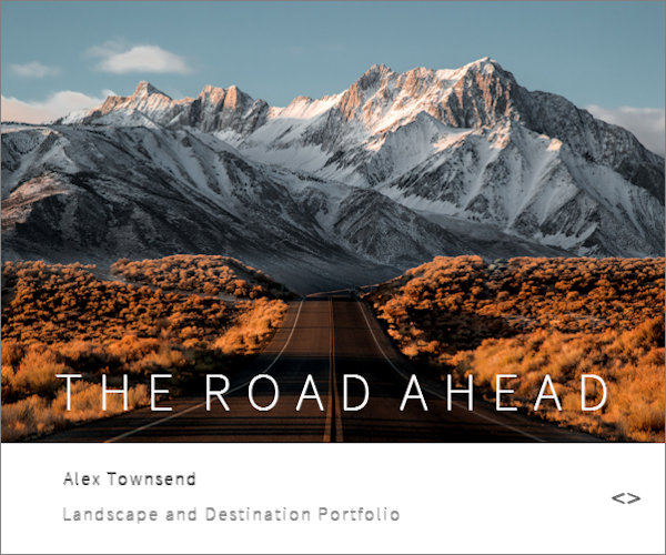 Web design for a photographer taking landscape images and creating a portfolio