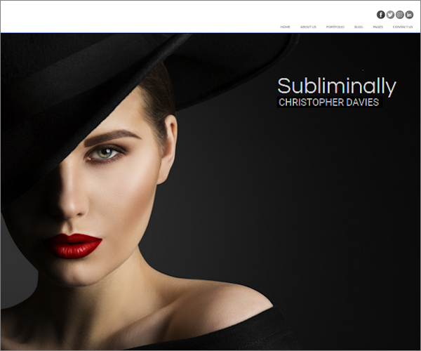 Web design for model photographer