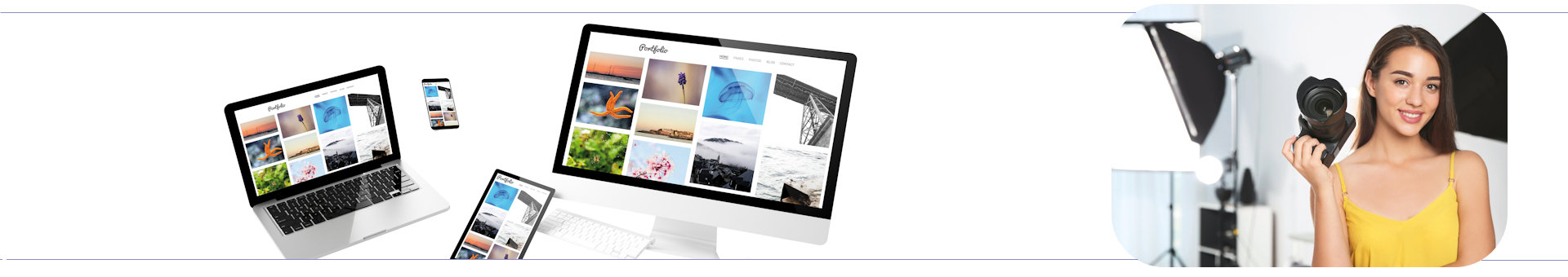 Web design for photographer