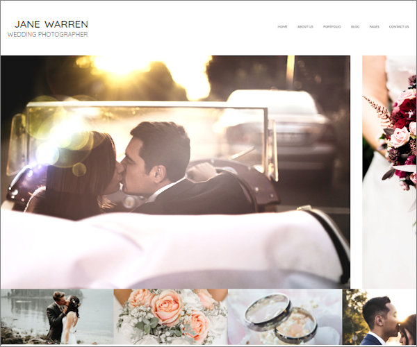 Wedding photographer portfolio design