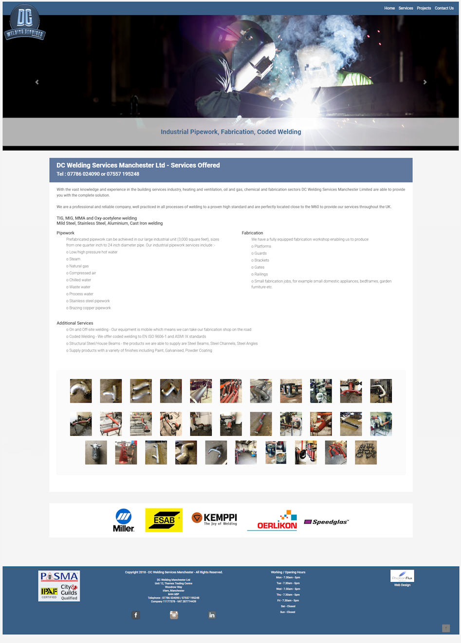 Welders Website Design