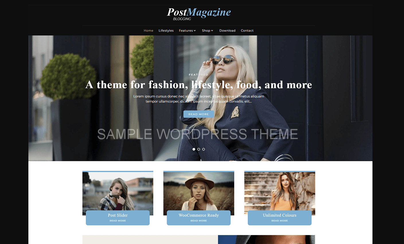 Free Themes in Wordpress.